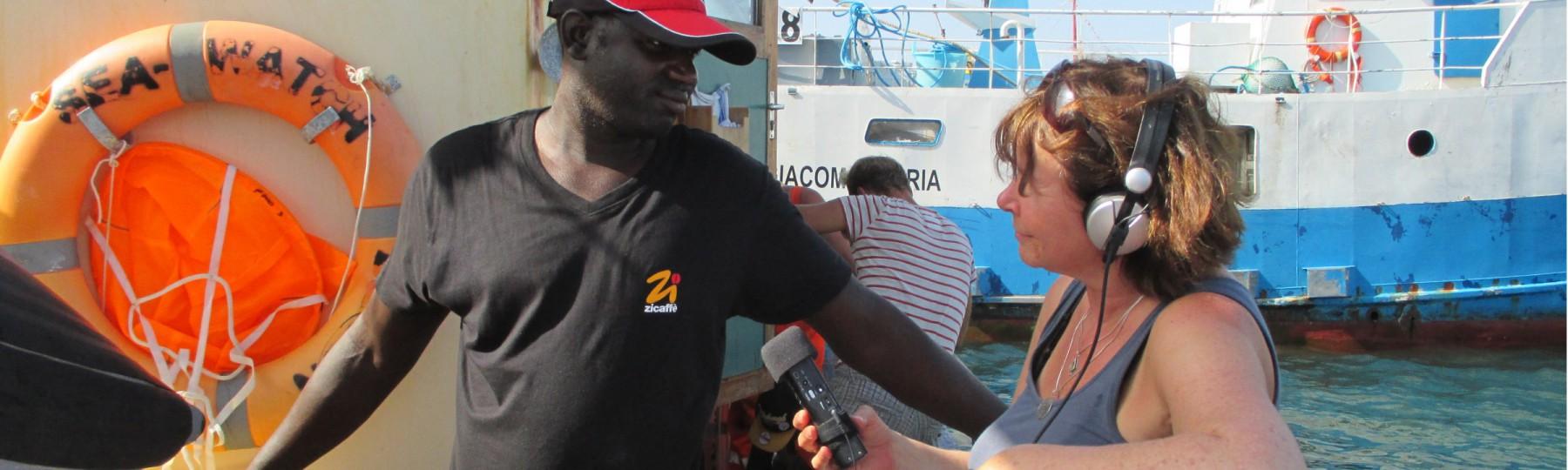 Interview auf der Seawatch