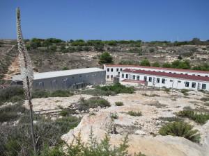Das Migration Camp auf Lampedusa. Dort landen die Flüchtlinge