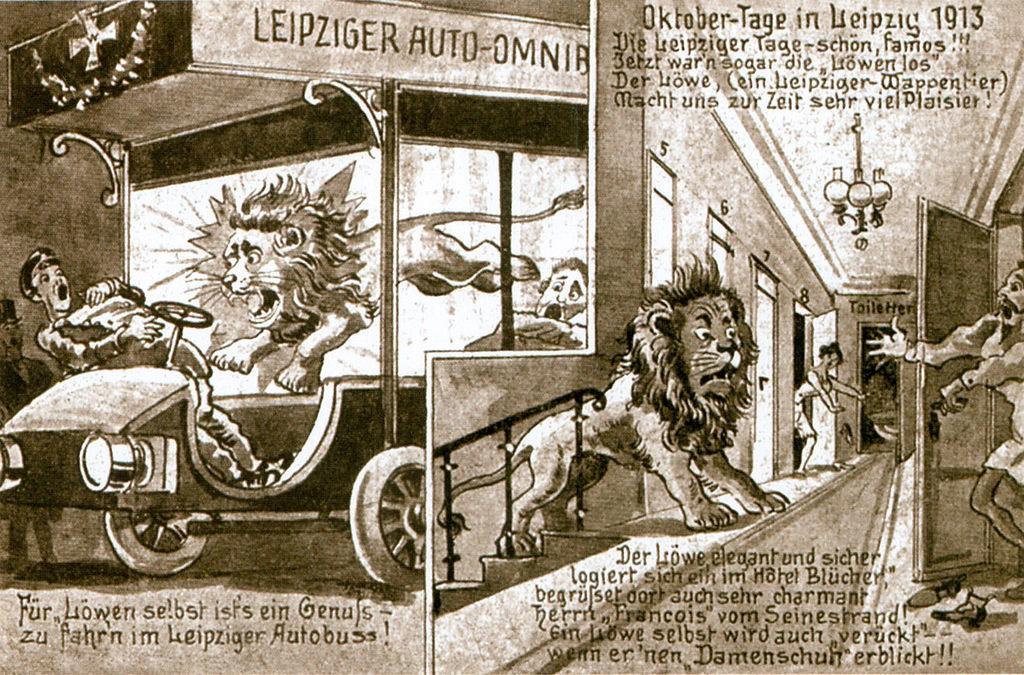Leipziger_Loewenjagd_Karrikatur - common wikimedia