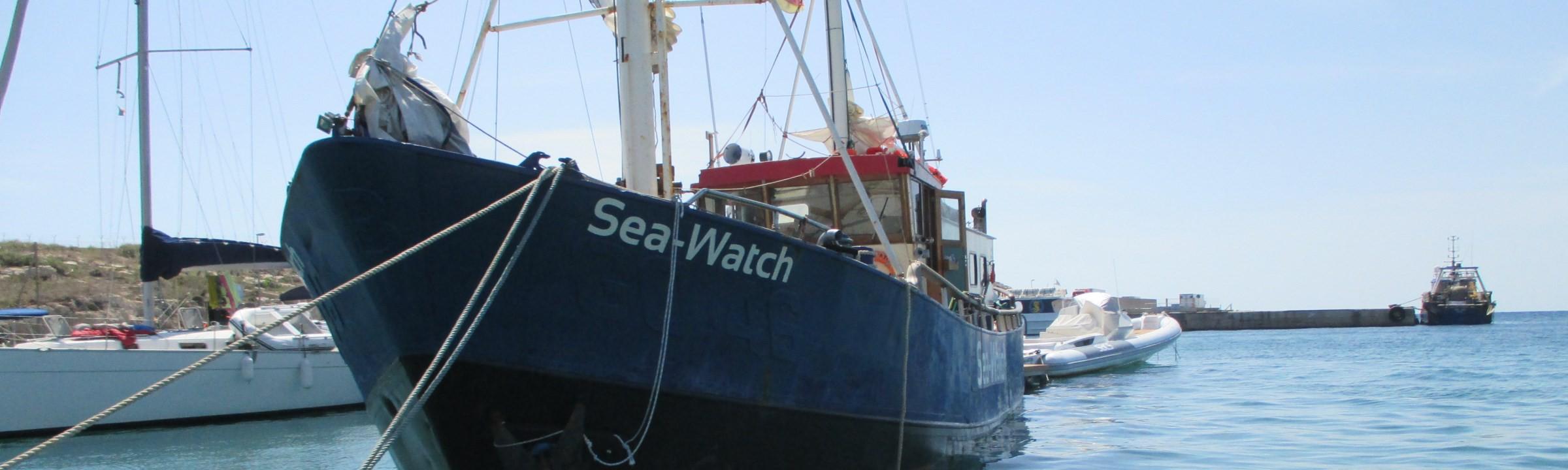 Die Seawatch vor Lampedusa