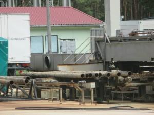 In der Rohrreinigungsanlage Steinitz bei Salzwedel werden alte, extrem belastete Gasrohre im Auftrag von Gaz de France gereinigt